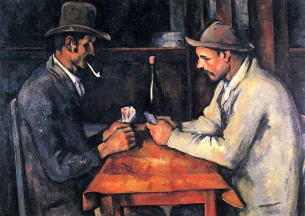 «Игроки в карты» (3-я картина серии), Поль Сезанн. Год создания: 1892-1893. Дата продажи: 2011 года. Цена: около 250 млн. долларов, куплена семьей эмира Катара.
