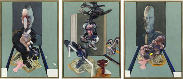 «Триптих», Фрэнсис Бэкон. Год создания: 1976. Дата продажи: май 2008 года. Цена 86,3 млн. долларов.