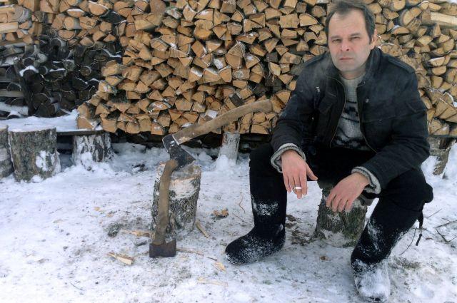 Роман Сенчин в деревне у родителей под Минусинском