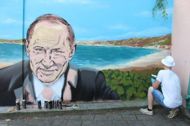 Граффити с Путиным.