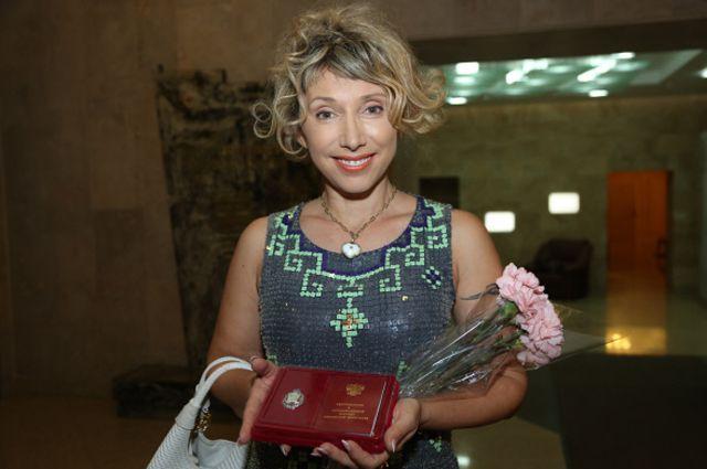 Актриса Елена Воробей, получившая звание «Заслуженный артист»
