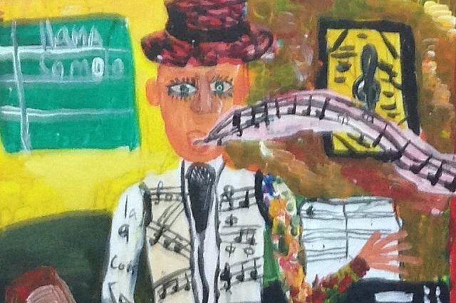 Юный художник такой видит свою будущую профессию.