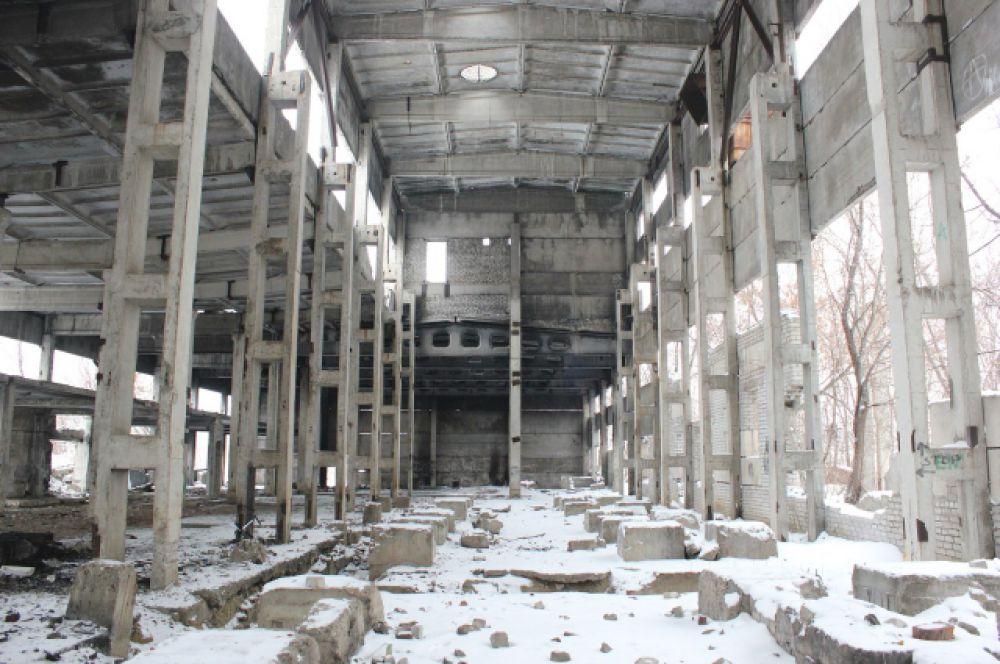 Недостроенная котельная в Ворошиловском районе.