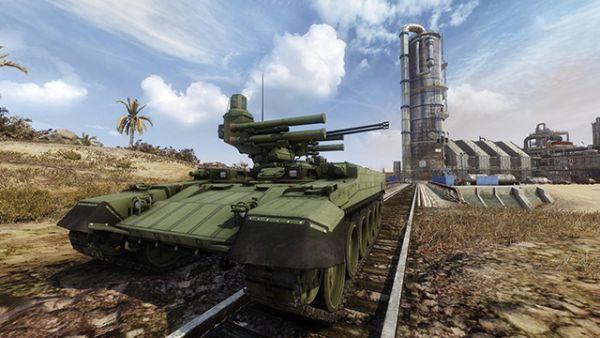БМПТ-72 – тяжеловооруженная боевая машина, представляющая собой дальнейшее развитие знаменитой машины огневой поддержки «Терминатор». Как и оригинальный «Терминатор», БМПТ-72 (также известная как «Терминатор-2») построена на базе T-72, однако в отличие от предшественницы она изготавливается основе существующих старых Т-72. Главное вооружение машины состоит из пары 30-мм пушек 2А42 и четырех 130-мм пусковых установок «Атака». В Armored Warfare: Проект Армата «Терминатор-2» - это ББМ 9-го уровня.