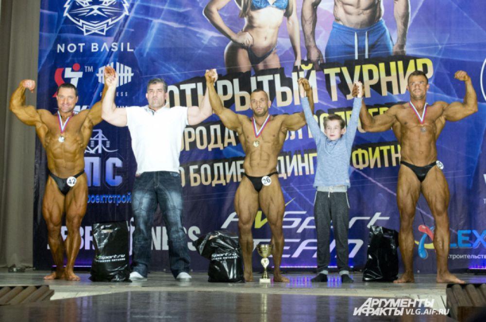 Призеры конкурса в категории «мужской бодибилдинг».