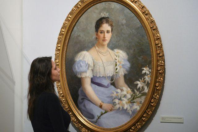 Портрет великой княгини Елизаветы Федоровны работы Ф.И.Рерберга.