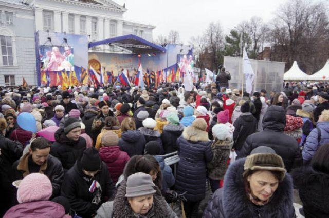 Более 10 тыс. пермяков побывали на концерте в честь Дня народного единства.