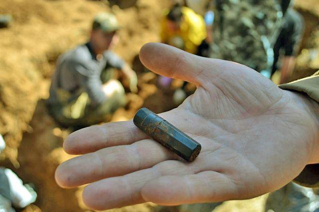 Медальон был найден без останков.