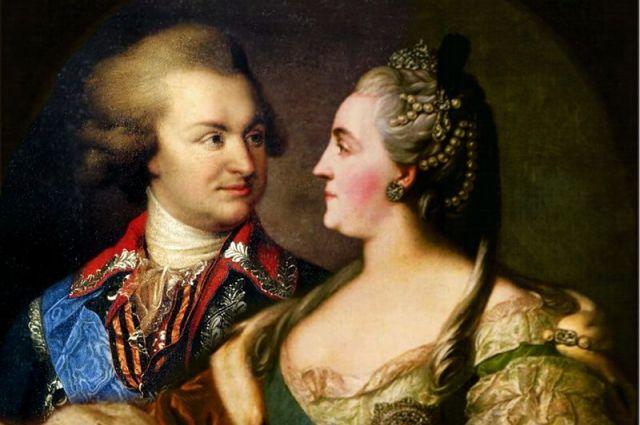 Екатерина II и Григорий Потёмкин (коллаж).