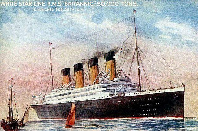 Открытка с изображением запуска Британика.