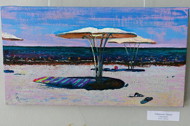 На выставке представлены работы художников Владивостока.