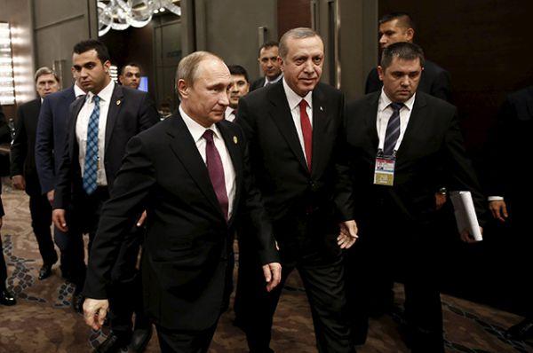 Президент Турции Тайип Эрдоган и Владимир Путин