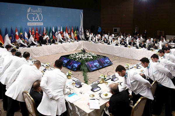 Рабочий обед лидеров «Большой двадцатки»