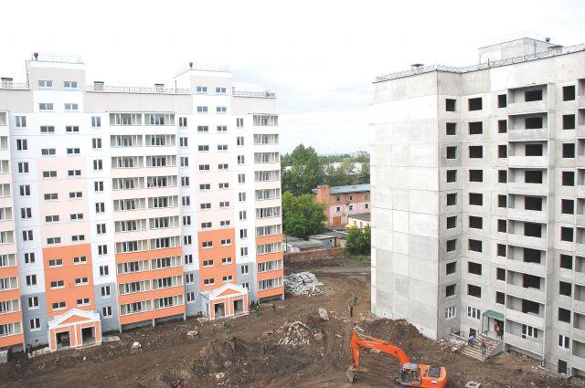 Средний размер построенной квартиры - 67 кв. метров
