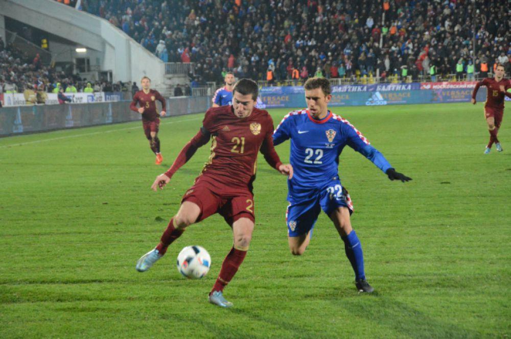Сборная России по футболу играла в экспериментальном составе.