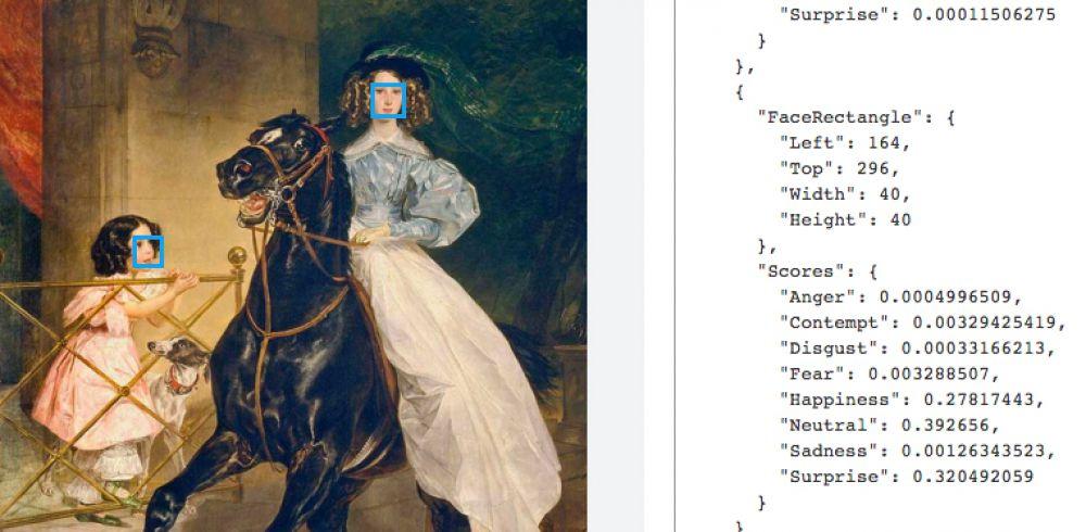 На картине Брюллова «Всадница» изображена сцена прогулки. Воспитанница графини Самойловой Джованнина подъезжает к дому, уверенно восседая на лошади, а маленькая Амацилия выбегает встречать ее и восхищенно смотрит на свою старшую подругу.