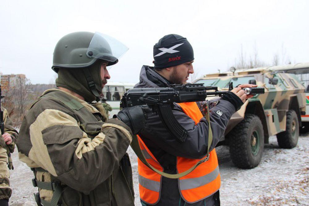 Подготовка оружия к стрельбе.