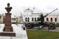 Эксперты считают, что памятник Александру II обращён не в ту сторону, а «Зенитка» нарушает гармоничную архитектуру здания вокзала.