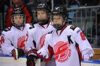 В Любинском посёлке открылся хоккейный корт.