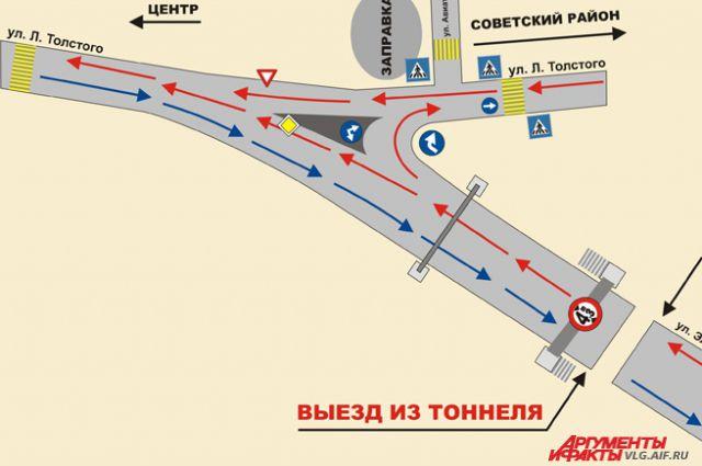 Схема тоннеля на тулака