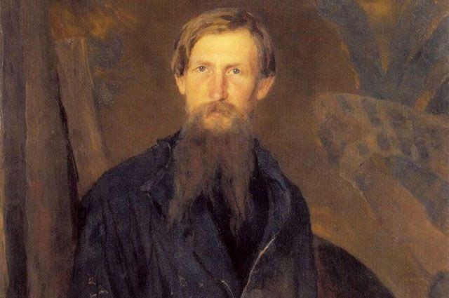 Портрет В. М. Васнецова работы Кузнецова Н. Д., 1891 год.