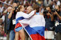 Мария Савинова после победы на Олимпиаде в Лондоне в 2012 году.