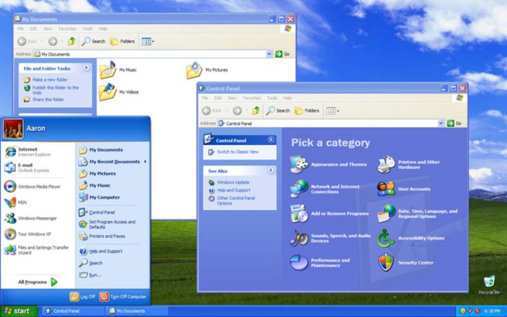 Windows XP была выпущена в 2001 году и получила совершенно новый пользовательский интерфейс, который значительно отличался от ставшего уже привычным интерфейса предыдущих версий. Впоследствии эта ОС стала самой популярной на долгие годы.