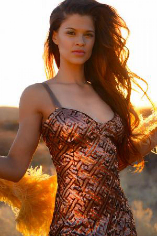 Участница конкурса «Мисс Мира» из Намибии.