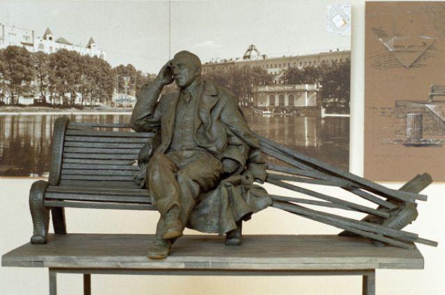 Проект памятника писателю Михаилу Булгакову, выполненный скульптором Александром Рукавишниковым.