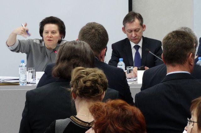 Наталья Комарова и Дмитрий Попов во время встречи с предпринимателями Сургута.