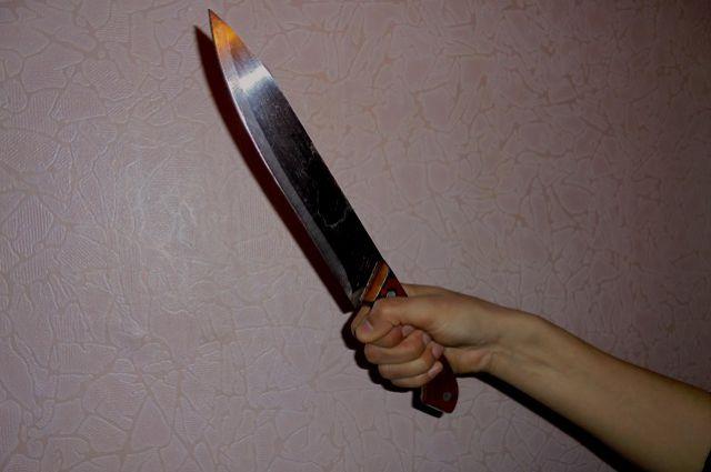 Сын ранил мать ножом.