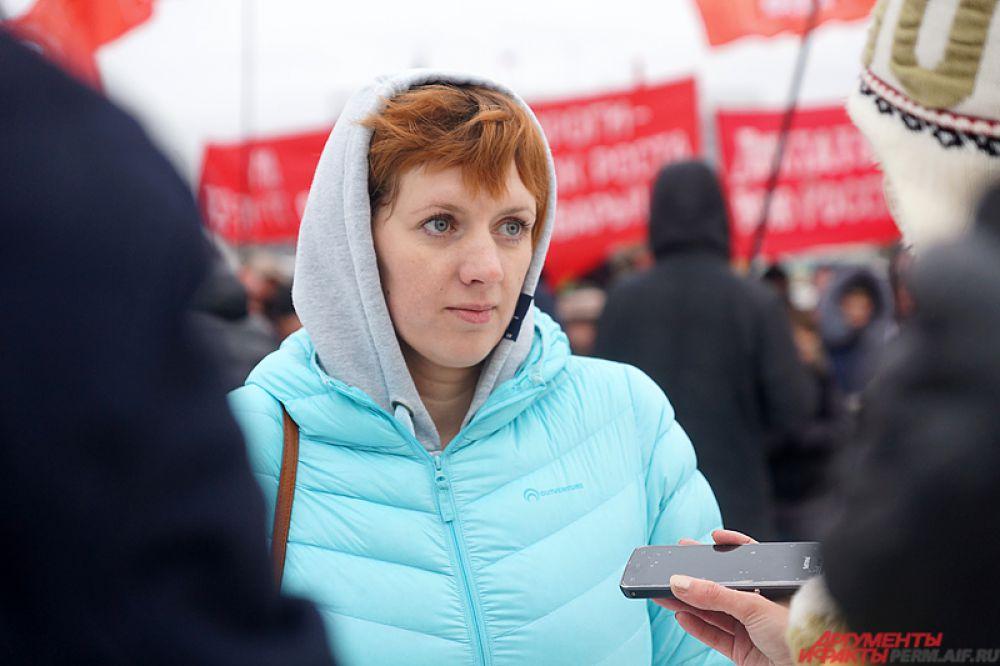 Один из организаторов мероприятия Наталья Полякова.