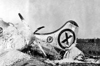 Обломки американского самолёта RB-29, сбитого советскими МиГ-15.