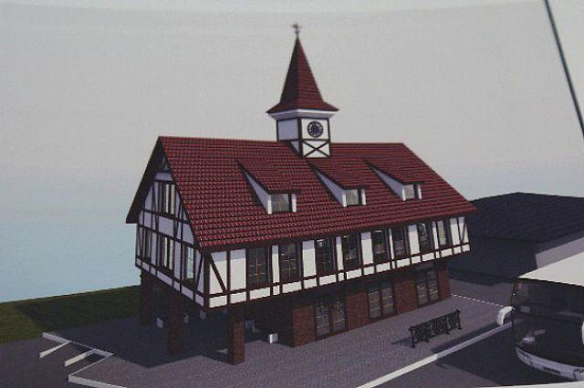 Проект нового автовокзала с башенными часами.