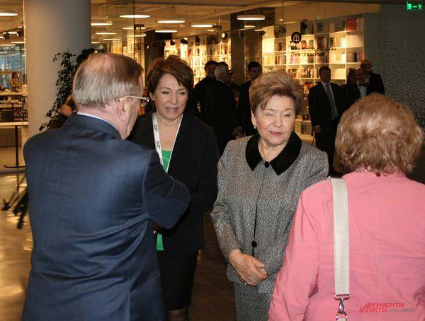 . Всех гостей встречали вдова первого президента Наина Ельцина и его дочь Татьяна Юмашева.