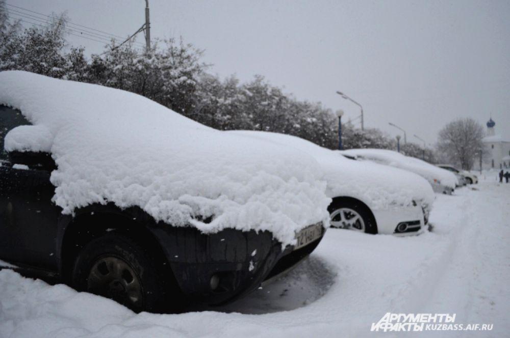 Машины под снежной пеленой, казалось, впали в долгий сон, от которого неизвестно когда пробудятся.