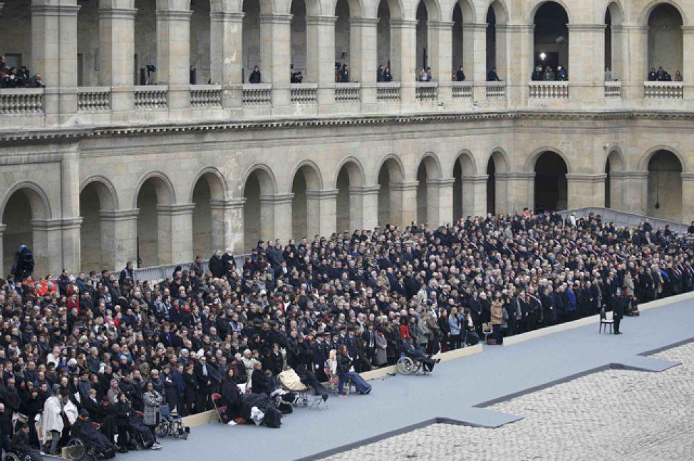 Национальная церемония в память о жертвах терактов.