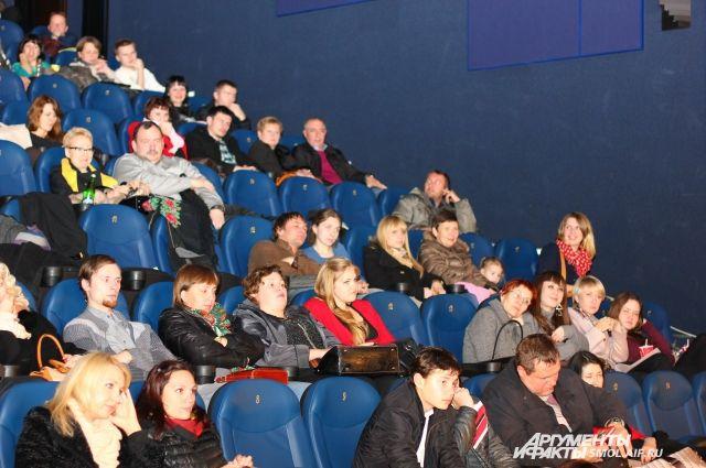 В зале кинотеатра