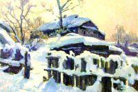 Фрагмент одного из молвинских пейзажей Евгения Шибанова