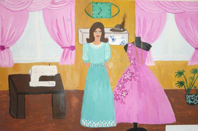 Воспитанники открыли выставку подарков «Платье для мамы».