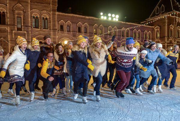 На открытии ГУМ Катка и ГУМ Ярмарки на Красной площади в Москве.