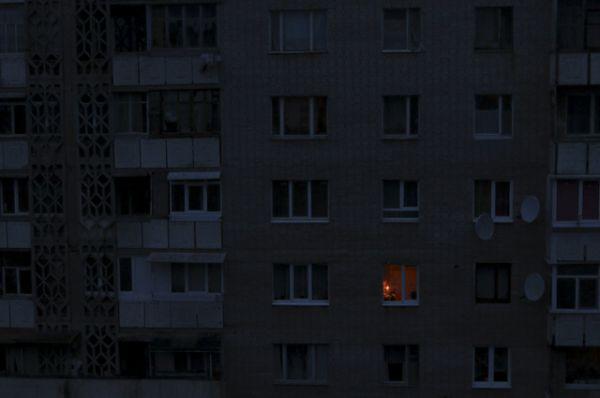 Окна в жилом здании, Симферополь.