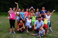 Валерия и Алексей с племянниками и внуками Власовых.