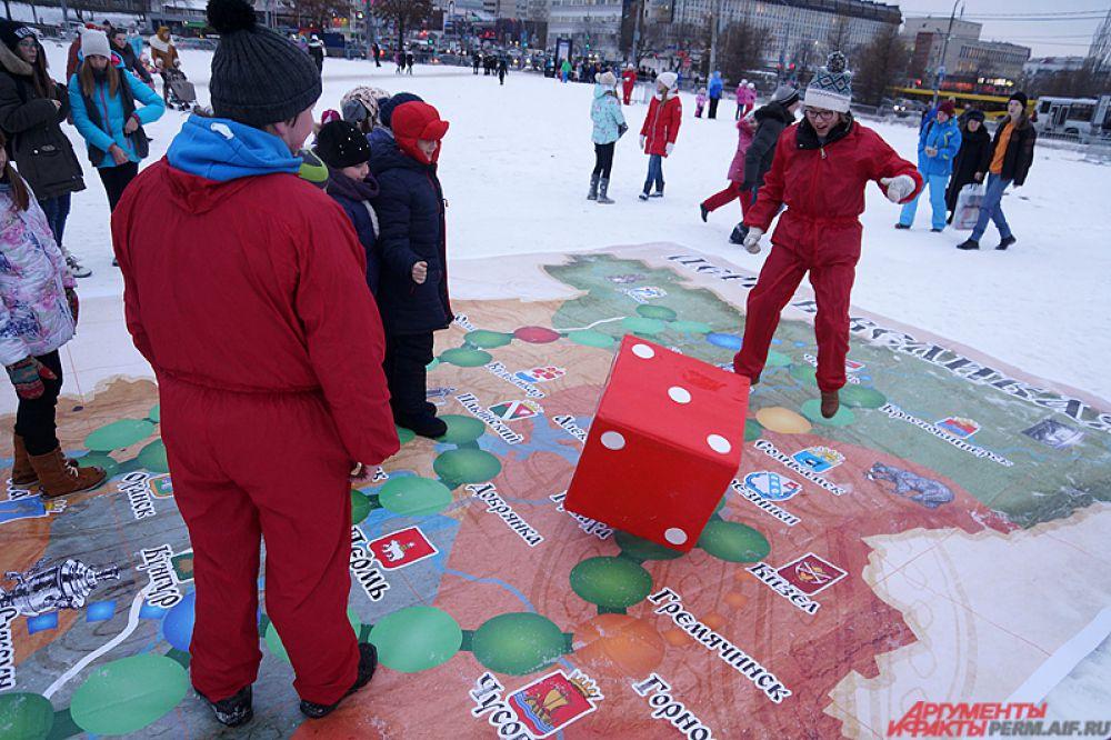 Необычная игра с картой Пермского края.