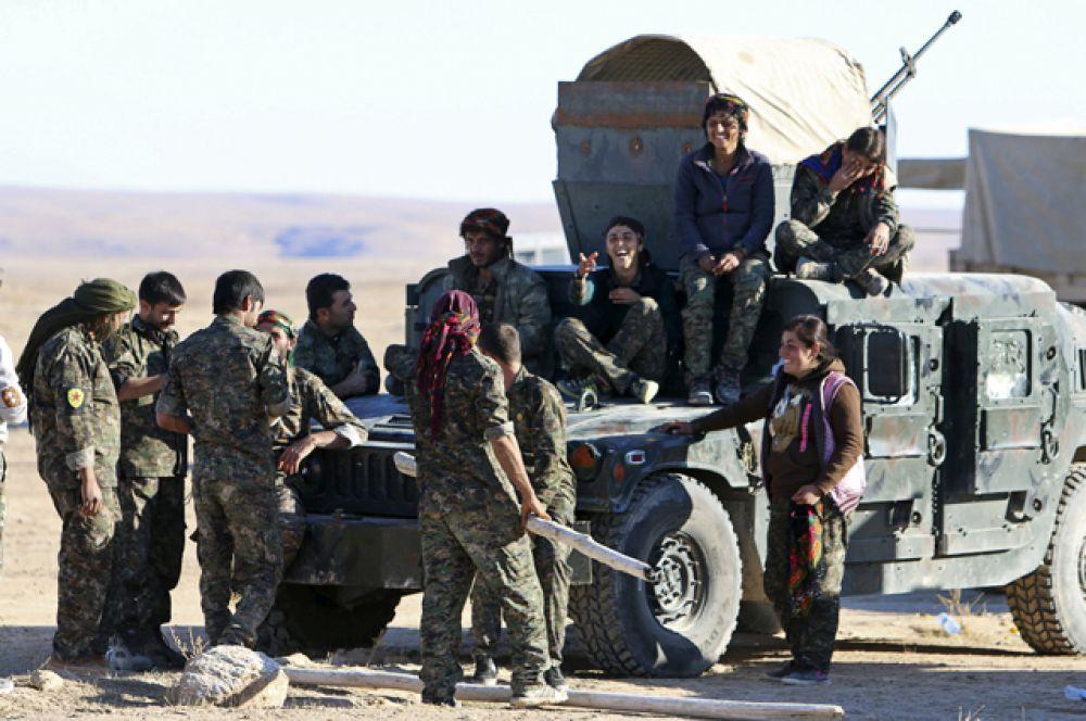 Курдские войска взяли полный контроль над городом Аль-Хоул в провинции Хасака.
