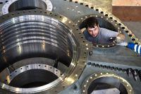 Завод по производству турбин в Рыбинске.