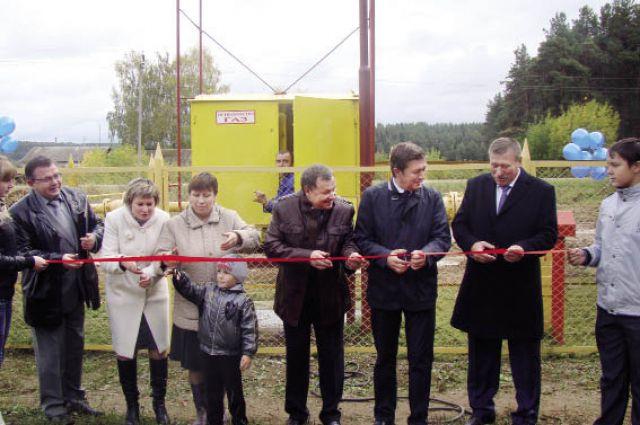 Пуск газа в Частинском районе.
