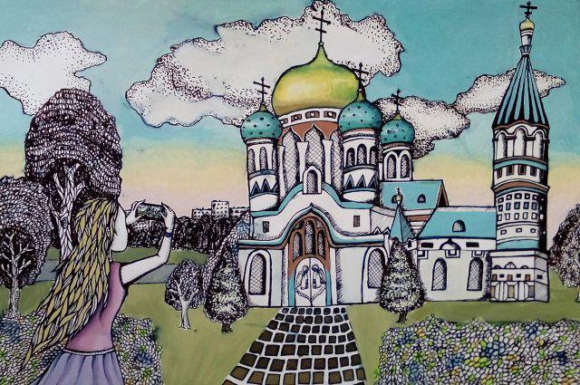 В Омске выбрали эскиз марки к юбилею города.