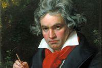Людвиг ван Бетховен на портрете Карла Штилера. 1820 год.