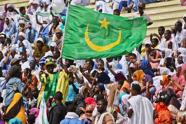 Болельщики сборной Мавритании.